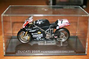 PIER FRANCESCO CHILI DUCATI 998R 2002 1:24 IXO - Rare