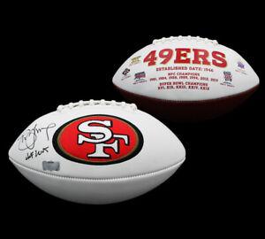 "Steve Young Signed San Francisco 49ers Embroidered Logo NFL Football -""HOF 2005"""