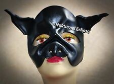 BLACK Pig Leather Mask Masquerade Cosplay Fantasy Evil Halloween Costume UNISEX