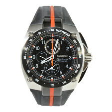 Seiko Sportura SNAE07 P1 Black Chronograph Men's Quartz Watch