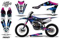 Dirt Bike Decal Graphics Kit MX Sticker Wrap For Yamaha YZ450F 2018+ FRENZY BLUE