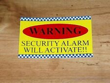 WARNING!! ALARM STICKER, DECAL, SECURITY, HOME PROTECTION, HIGH VOLTAGE,FLAMABLE
