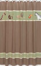JUNGLE ADVENTURE ANIMAL BROWN SUEDE SAFARI KID SHOWER CURTAIN SWEET JOJO DESIGNS