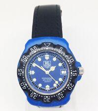 Vintage TAG HEUER FORMULA 1 Quartz Watch. 34mm Blue Dial. Date. WR 200M