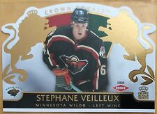 2002-03 STEPHANE VEILLEUX PACIFIC CROWN ROYALE ROOKIE #120 WILD #0216/2299