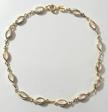 Ankle Bracelet Opal Like Nice Color Gold Filled 10 inches Long Anklet  # 000