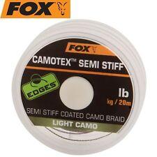 (1,00€/1m) Fox Camotex light Semi Stiff 20m 35lbs 15,8kg - Vorfachmaterial