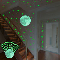 Glow In The Dark Luminous Stars Moon Planet Space Kid Wall Stickers Room Decal