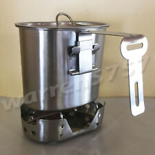 NEW WWII STYLE Stainless Steel Canteen Cup with Foldable Handle and Vented LID.