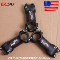 US EC90 31.8X28.6mm 6/17° 60-120mm 1-1/8in Headset MTB Bike Bar Handlebar Stem