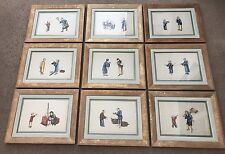 Antique 19th C Chinese Rice Paper Pith Paintings Framed Rare