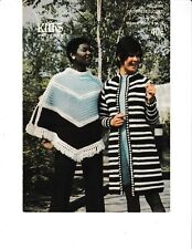 Crocheted Coat and Poncho | King Patterns 2089