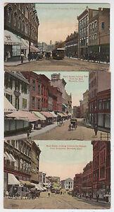 B7292 : (3) 1900's Norwich, CT Principal St Cartes Postales