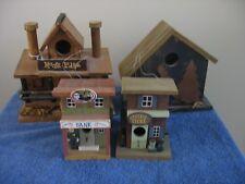 Four Decorative Bird Houses