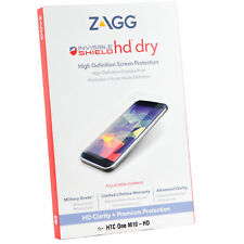 New Genuine ZAGG Military Grade HD Dry Premium Screen Protector For HTC M10-HD