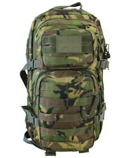 BRITISH ARMY STYLE  ASSAULT PACK BACKPACK BAG in DPM WOODLAND CAMO 28 LITRE