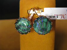 MARIANA EARRINGS SWAROVSKI CRYSTALS GREEN BLUE ROSE GOLD P Gift