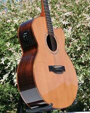 Edel jumbo cutaway Western guitarra cedro Ebony Palisander * huesos sillín * Fishman