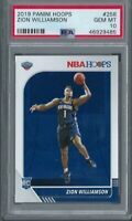 ZION WILLIAMSON 2019-20 PANINI NBA HOOPS ROOKIE RC #258 PSA 10 GEM MINT