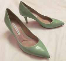 DVF DIANE VON FURSTENBERG ANETTE in GREEN HAZE  patent leather pumps shoes 8.5 M