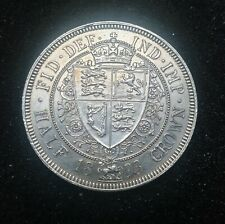 1893 Victorian Silver Half Crown coin.