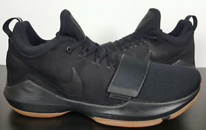 NIKE PG 1 PAUL GEORGE BASKETBALL SHOES BLACK GUM RARE NEW 878627-004 (SIZE 16)