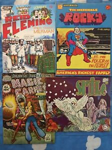 LOT x4 Underground Comix Smile #2 Incredible Rocky Magic Carpet Reid Fleming #1