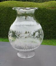Vintage Glass Oil Lamp Shade/Globe - Chimney-less to fit Rowatt's No12 Anucapnic