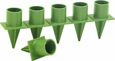 """Handy Candle Holder Christmas Floral Design Craft Green Plastic Wreath 1"""" Taper"""