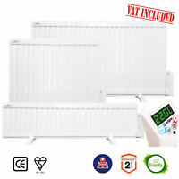 Oil Filled Electric Radiator, Wall Mounted / Portable Panel Heater 700W - 2000W