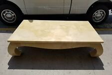 1970'S Ming Style Goat Skin Coffee Table Manner Of Karl Springer - P