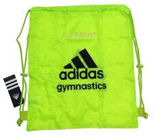 Adidas Gymnastics Gear Bag Gym Sports Tote Drawstring Pack Nylon Sling Yellow