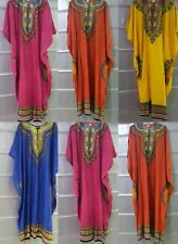 NEW LADIES Plus Size Solid Cotton Long Kaftan Dress African Size 16 TO 30 FIT
