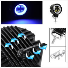 3'' 12/24V Round CREE LED Angel Eyes Halo Ring Car Offroad Work Light Spot Light