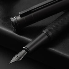 HongDian Black/ Dark Blue Forest Fountain Pen EF/ F/ Bent Nib Converter Pen