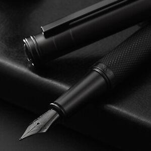 HongDian Black / Dark Blue Forest Fountain Pen EF/ F/ Bent Nib Converter Pen