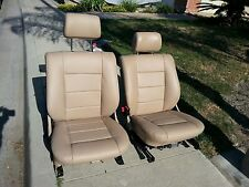 BMW 635CSI E24 87 88-89 L6 COMFORT SEAT KIT 100%LEATHER UPHOLSTERY KIT NEW NATUR