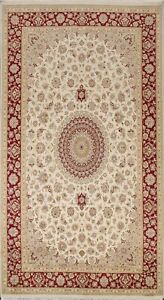 Floral Traditional Oriental Area Rug Hand-knotted Wool Living Room Carpet 6'x11'