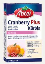 Abtei  Cranberry Plus Kürbis, Zink, Selen, B-Vitaminen, 30 Stück, PZN 11111300