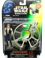 Star Wars Power of The Force Deluxe Han Solo Action Figures with Falcon Gun