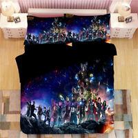 Single/Double/Queen/King Bed Doona/Quilt/Duvet Cover Set Pillowcase The Avengers