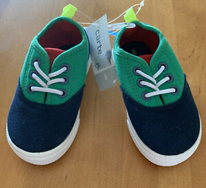 Carter's Maximus Casual Slip-on Shoes Blue/Green Sz: 6 NWT