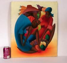 Anderson Toussaint Haiti Artist Original Oil on Canvas Painting *