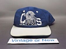 VTG 90's NFL Team Dallas Cowboys Navy Blue Grey Snapback Hat Cap