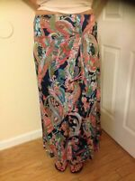 NWT! Lily from Stein Mart ~ Long Multi-color Paisley Pattern Lined Skirt ~Size S