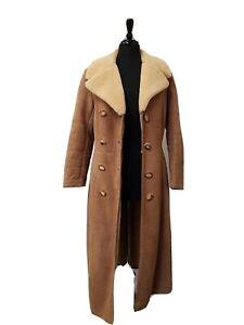 Ladies Sheepskin Coat Made in Switzerland Size 12 EU40 Specialist Dry Cleaned