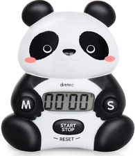 JAPAN Black White Panda Animal Kitchen Digital Timer Magnet Refrigerator Dretec