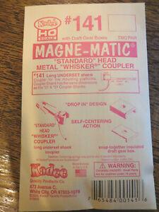 "Kadee HO #141 / ""Standard"" Head Metal "" Whisker"" Magne-Matic(R) Couplers"