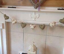 Handmade Fabric Shabby Chic Liveheart Garland Bunting