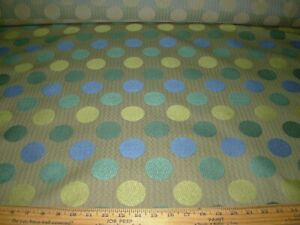8 4/8 YDS MODERN RETRO POLKA DOTS EMBROIDERED UPHOLSTERY FABRIC FOR LESS